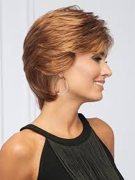 short hair behind the ears sublime by gabor short petite wigs com the wig experts