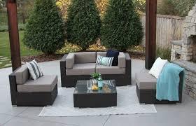 bucktown 5 piece wicker patio sofa sectional u2014 meldecco patio