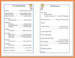 Wedding Ceremony Program Template Free 5 Church Program Templates Free Bussines Proposal 2017church