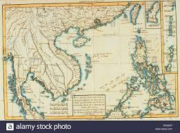 South East Asia Map South East Asia 18th Century Map Stock Photo Royalty Free Image