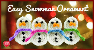 easy snowman ornament snowman free crochet and ornament