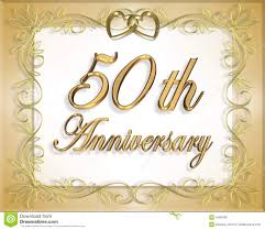 Greetings For 50th Wedding Anniversary 50th Wedding Anniversary Card Royalty Free Stock Photo Image