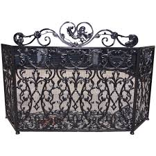 Wrought Iron Room Divider by French Wrought Iron And Painted Rooster Fire Screen Circa 1840 At