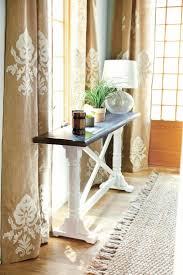 Colored Burlap Curtains Best 25 Stenciled Curtains Ideas On Pinterest Painting Curtains