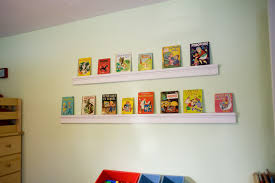 Childrens Wall Bookshelf Furniture White Wooden Wall Shelves On White Wall Connected By