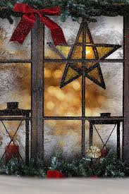 Lighted Christmas Star Window by Christmas Window Decoration Ideas