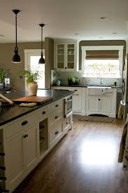 kitchen cabinets and wood floors colored kitchen cabinet ideas wood floors and black