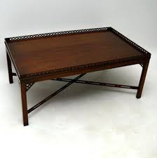 Rustic Mahogany Coffee Table Benchwright Rectangular Coffee Table Rustic Mahogany Pottery Barn