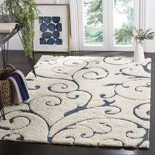 8 X 6 Area Rug Safavieh Florida Shag Collection Sg455 1165 Scrolling