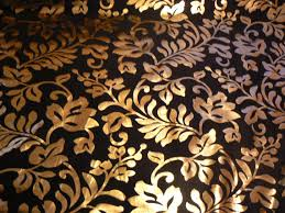 Shiny Gold Curtains Iridescent Gold Foil Print On Black Silk Taffeta Fabric Curtains