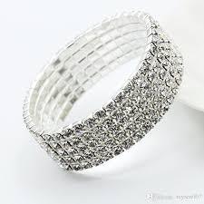 diamond bracelet bangles images Luxurious multi rows diamond bracelets for women elastic cubic jpg