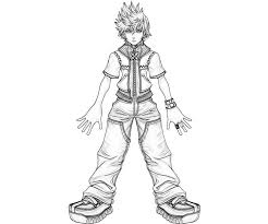 kingdom hearts 2 coloring page free download