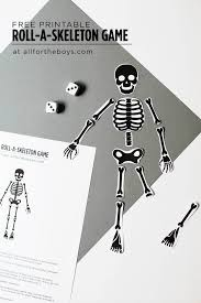 Free Printable Halloween Decorations Kids Free Printable Skeleton Game Halloween Parties Free Printable And