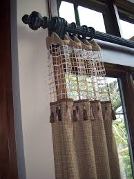 for added interest and ability to let the light in use a sheer top