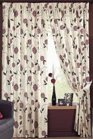 Living Room Curtains On Ebay Ross Lined Curtains Floral Flowers Allium Leaves Ready Made Pair