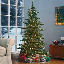 skinny christmas tree with lights home decorating interior