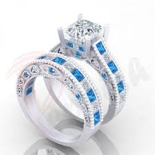 doctor who wedding ring diamond wedding bands 4 6ct doctor who design blue white