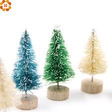 new 15pcs diy tree 3colors small pine tree mini trees