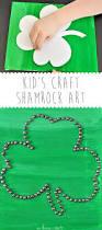Shamrock Decorations Home Irish Crafts For Kids Shamrock Canvas Art We Know Stuff