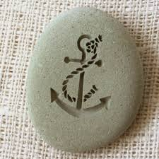 Stone Home Decor Anchor Home Decor Paperweight Engraved Stone By Sj Engraving