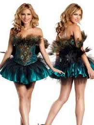 Peacock Halloween Costumes Adults Roma Costume 2 Piece Pretty Peacock Shown Turquoise Small