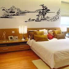 river home decor free shipping chinese style painting mountain river tree wall