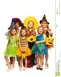 group of kids in halloween costumes stock photo image 44416113