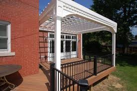 White Vinyl Pergola by Photo Gallery Gallery Image 255 California Custom Decks