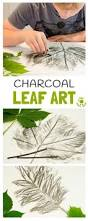 charcoal leaf pictures kids craft room