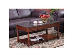 furniture rectangle black granite top coffee table with brown
