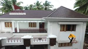 Kerala Home Design Tiles Californian Roof With Truss Work Tile Roof Truss Work Youtube