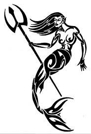 mermaid tribal tattoo tribal mermaid tattoo design real photo