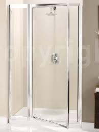 E Shower Door Supreme 1100mm Pivot Shower Door With Inline Panel