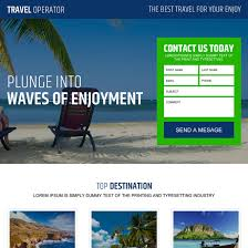travel landing page design templates to capture leads for travel