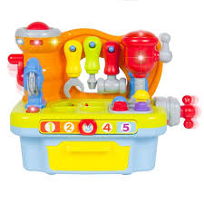 baby toys with lights and sound musical learning pretend play tool workbench toy fun sound effects