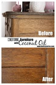How To Make Furniture Look Rustic by Conditioning Furniture With Coconut Oil Thrifty Stories