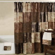 Masculine Shower Curtains Brown Shower Curtains Interior Design