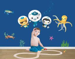 klebefieber kinderzimmer unterwassererlebnisse der besonderen oktonauten wandtattoos