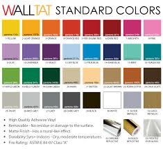 walltat wall and glass decal colors