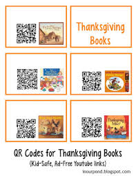 in our pond free qr codes for read to me books thanksgiving