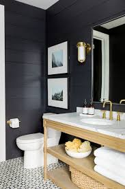 Powder Room Powell Ohio - adding shiplap and painting navy would make a beautiful powder