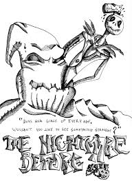 nightmare christmas coloring pages characters nightmare