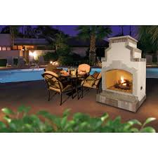 Propane Fireplace Outdoor Cal Flame 48 Inch Outdoor Natural Gas Fireplace With Stack Slanted