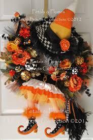 orange halloween ribbon background halloween wreath