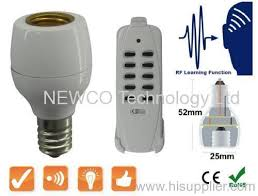 remote control light bulb socket wireless rf e14 light bulb cap socket remote control l holder