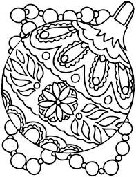 decoration coloring pages free ornaments