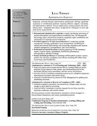 Summary For Resume Example by Secretary Resume Example Sample