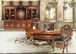 Rococo Interiors Dubai Office Classic Office Desks Luxury French Rococo Style Classic
