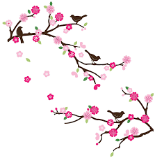 amazon com blossoms and branches decorative peel u0026 stick wall art