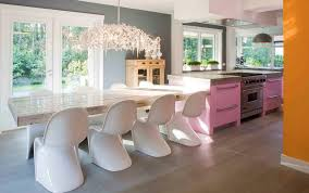 kitchen island with attached dining table cantilevered tables floating in modern luxury homes